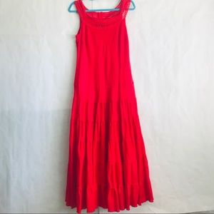 Jones wear dress. Red Spanish style. Size 10.